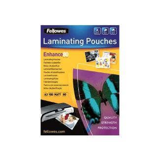 Fellowes Pochettes, A3, 80 micron, paquet de 100