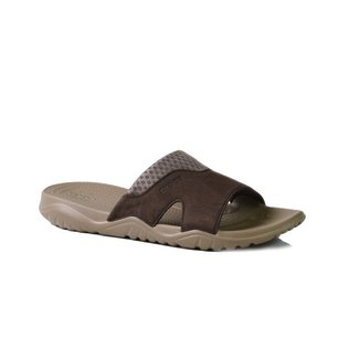 Crocs Swiftwater Leather Slide Taille 42   Hommes