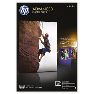 Papier photo HP Advanced à finition brillante sans bordure (25feuilles, 10x15 cm)