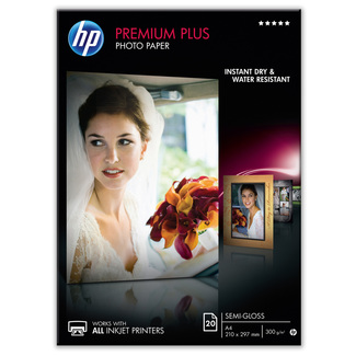 Papier photo semi-brillant HP Premium Plus (20 feuilles - A4 – 210 x 297 mm)