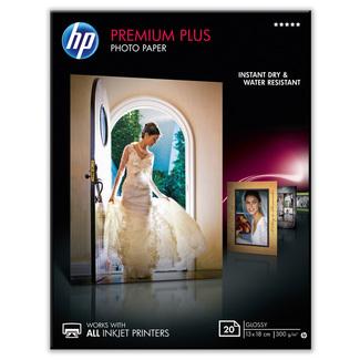 Papier photo brillant HP Premium Plus (20 feuilles – 13 x 18cm)