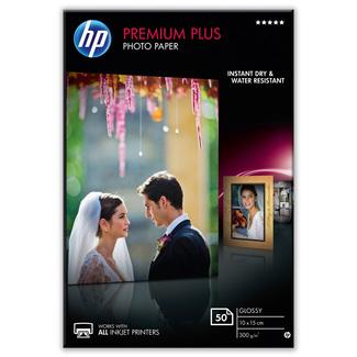 Papier photo brillant HP Premium Plus (50 feuilles – 10 x 15cm)