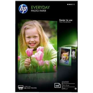 Papier photo brillant HP Everyday - 100 feuilles, 10 x 15 mm