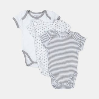 Manor Baby Pack trio, bodys, manches courtes 92