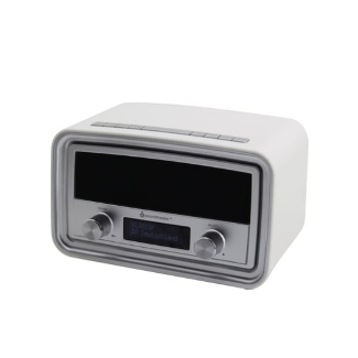 Soundmaster Ur190We - Radio-réveil (Blanc)