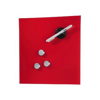 Hama Tableau magnétique en verre, 30 x 30 cm, rouge