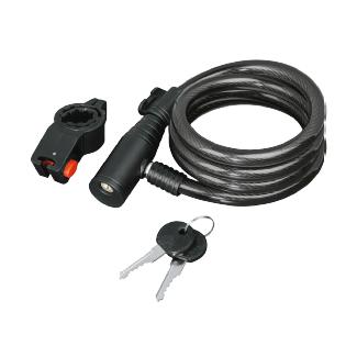 Hama Cable Lock 120 cm Serrure en spirale pour câble de bicyclette (Noir)