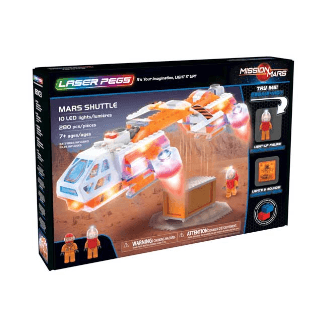 Laser Pegs Mars Shuttle Kit de construction (Multicolore)