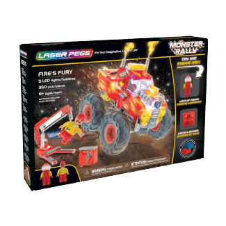 Laser Pegs Monster Rally – Fire's Fury Jeux de construction (Multicolore)