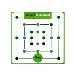 Stiftung Brändi Mühlespiel: La sauterelle verte Jeu de famille (Multicolore)