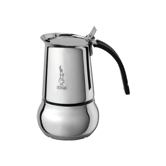 Bialetti Kitty Induction, 4 tasses Cafetières italiennes (Argent)