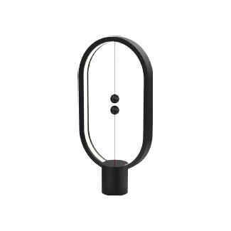 Allocacoc Heng Balance Ellipse Lampe LED (Noir)