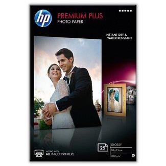 Papier photo brillant HP Premium Plus (25 feuilles – 10 x 15cm)